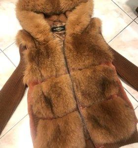 Меховая жилетка,куртка