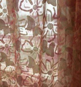 Тюль со стяжкой шир 4 м длина 2,2