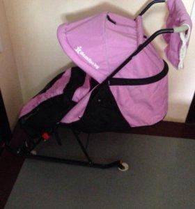 Детские санки коляска