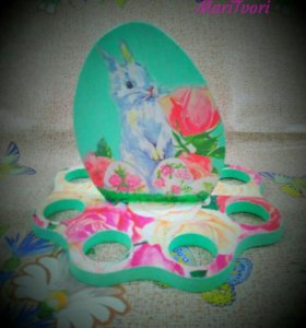 Подставка для яиц Пасхальный зайчик