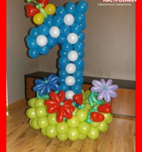Цифры из шаров Гелиевые шары