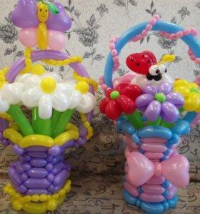 Цветы из шаров!