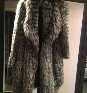 Шуба-пальто чернобурка