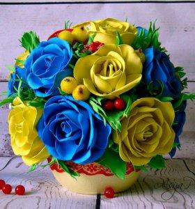 Интерьерная композиция (топиарии, подарки, цветы)