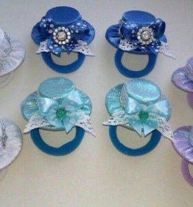 Шляпки на  резиночках , ободки украшение на шишку
