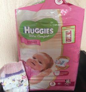 Подгузник Huggies для девочек