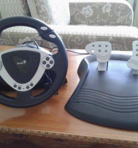 Игровой руль с педалями Genius TwinWheel/Pedal