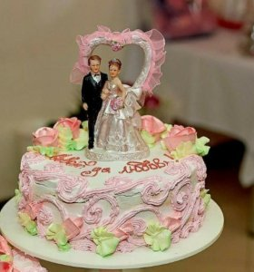 Жених и невеста на торт
