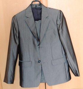 Костюм школьный(пиджак+брюки)