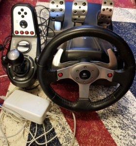 Руль с педалями Logitech G25 Racing Wheel