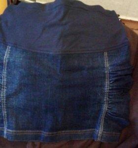 Юбка джинсовая для беременных 44-46р