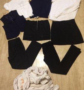 Детская одежда для школы,б/у,134/140,колготки