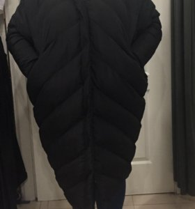 Демисезонное стёганое пальто 58-60