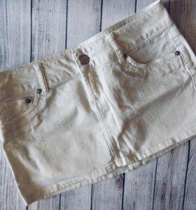 Новая белая джинсовая юбка