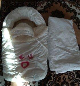 Конверт шапочка и одеялко