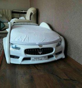 Детская кровать машина арт 103