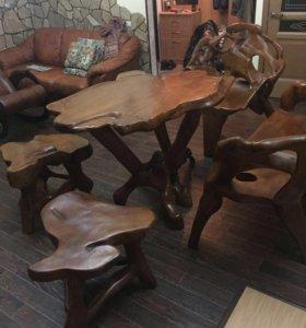 Мебель из тикового дерева