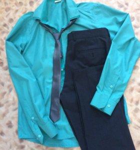 Рубашка , брюки , галстук , джинсы