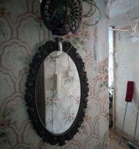 Зеркало с бра винтажные, раритет СССР