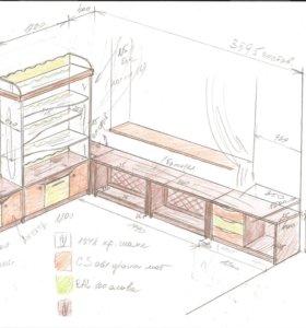 Комплект мебели для детской комнаты