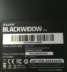 Клавиатура RaZer blackwidow