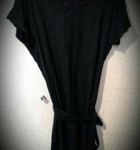 Тоненькое чёрное платье от La Redoute р. 46-48