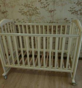 Детская кроватка Papaloni с матрасом