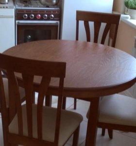 Продам комплект, стол+4 стула