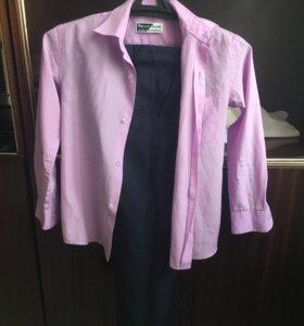 Брюки-24,кофта и рубашка -м размер