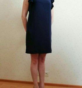 Платье темносинее