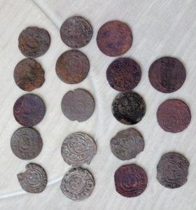 Монеты. Солиды, 18 шт. Серебро.