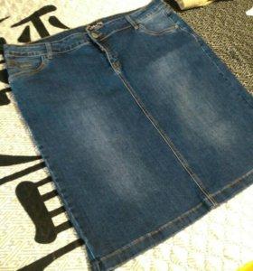 Юбка джинсовая на 58 размер