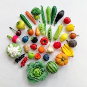 Фрукты и овощи из полимерной глины