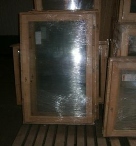 Деревянные окна со стеклопакетами для дома и дачи
