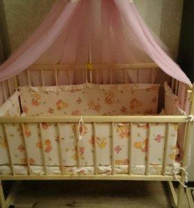 Кроватка маетник для малыша +подарок!!!!!