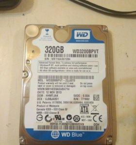 Жесткий hdd для ноутбука 320 гб Wd blue