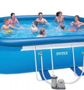 Овальный каркасный бассейн Intex, 28194