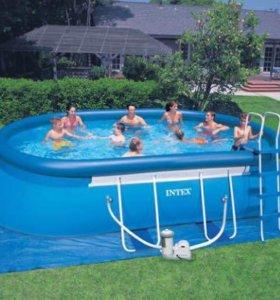 Бассейн Intex Oval Frame Pool, 549х305х107см