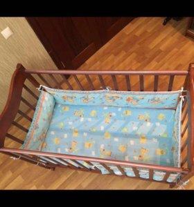 Детская кроватка (Милена)+ матрас