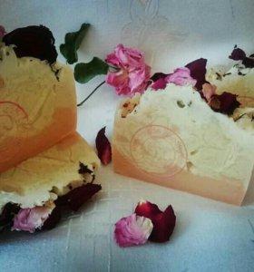 "Натуральное мыло ""Шелковая роза"" (мыло с нуля)"