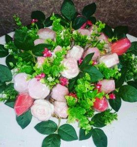 Букет из натурального мыла 25 роз