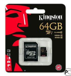 Карта памяти Kingston micro SD 64Gb Class 10