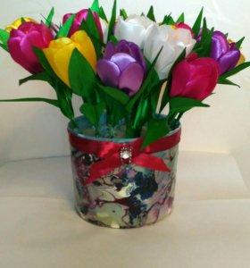 Искусственные цветы Крокусы. 21 цветок.