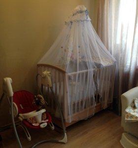 Детская кроватка +ПОДАРКИ!