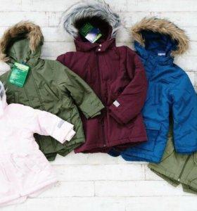 Новые куртки-парки для девочек Lupilu, Германия.