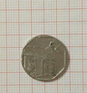 Монета Куба 5 сентаво, 2000 год