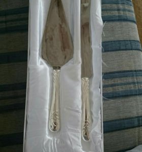 Набор для свадебного торта (лопатка и нож)