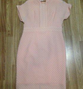 Платье персиковое (новое)