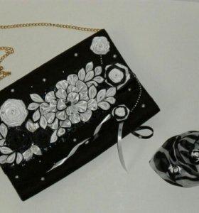 Новый Клатч ручной работы+подарок