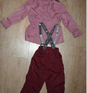 демисезонный костюм на девочку рост 104см б/у